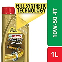 Castrol POWER1 Racing 4T 10W-50 API SN Full Synthetic Engine Oil for Bikes (1L),Castrol India Limited,4T 10W50