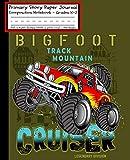 Monster Truck BIGFOOT CRUISER Primary Story Paper Journal: Cool Boys RC Monster Truck Book Monster...