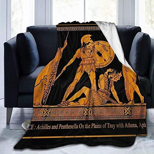 FETEAM Manta De La Siesta Felpa Sofás Franela Friso de la Diosa Diosa Antigua Grecia Buen sueño L127cm x W102cm