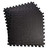Ganvol Pack of 20 Interlocking Soft Foam Floor Mats 30x30 cm, Cover 1.8 Square Meters, EVA Floor Tiles, Gym Flooring Mats, Non Slip Foam Exercise Mats Rubber Cushion Ground Protector for Home Workout