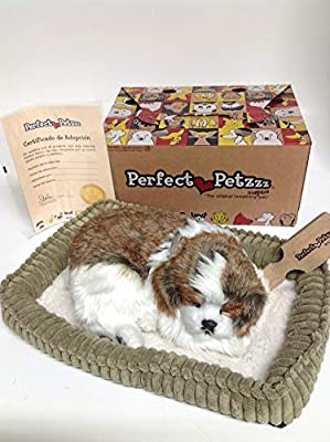 Perfect Petzzz Huggable Breathing Puppy Dog Pet Bed Shih Tzu