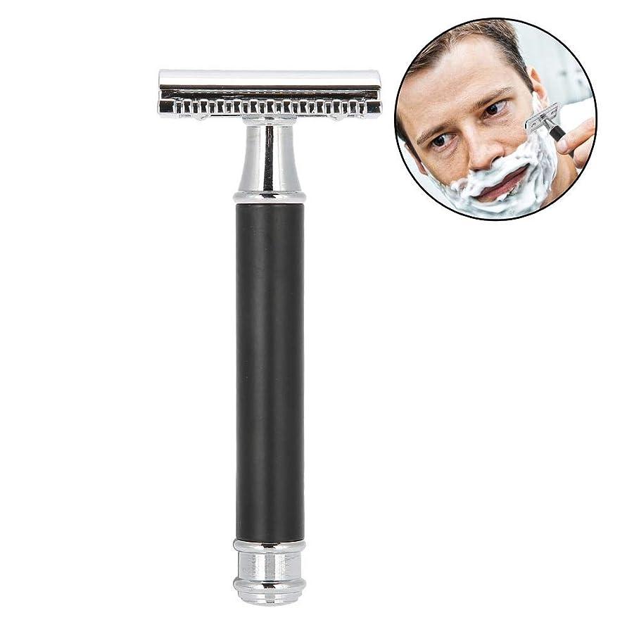 おもちゃ形式柱手動メンズシェーバー 金属クラシックレイザー 両刃カミソリ 安全 防水肌に優しく 使いやすい 快適な剃り