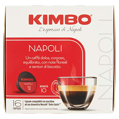 Kimbo Capsule Napoli Compatibili Dolce Gusto - 16 Capsule