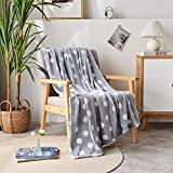 "dakang plush throw blanket, fleece throw for couch 50"" x 60"" - soft microfiber cozy lightweight"
