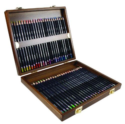 Derwent Studio Pencils, 3.4mm Core, Wooden Box, 48 Count (0700822)