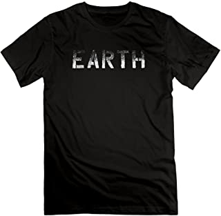 Men's Neil Young EARTH Tour 2016 Wordmark 100% Cotton Tee T-shirts
