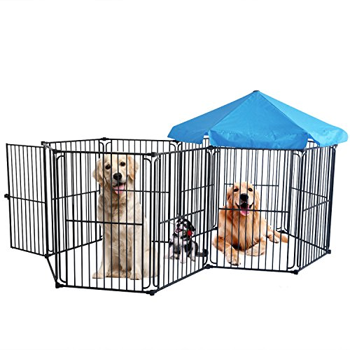 LEMKA Heavy Duty Dog Playpen Dog Kennel Pet Dog Exercise