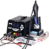 YIHUA 853D 5A-II 3 in 1 Hot Air Rework Soldering Iron Station and DC Power Supply 30V 5A -°F /°C Multiple Functions