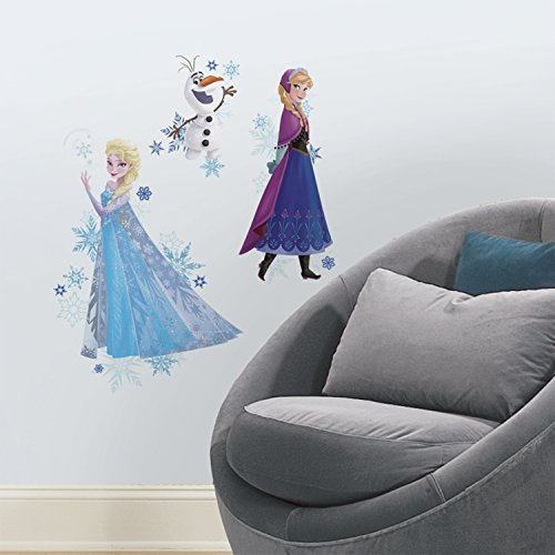 "RoomMates - RMK2771TB Disney Frozen Anna, Elsa, And Olaf Peel And Stick Giant Wall Decals,Multicolor,18"" x 40"""