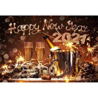 GooEoo 9x6ft新年2021装飾新年の背景花火パーティー写真撮影写真背景子供子供写真家族パーティー誕生日の背景赤ちゃんの装飾ビニール素材