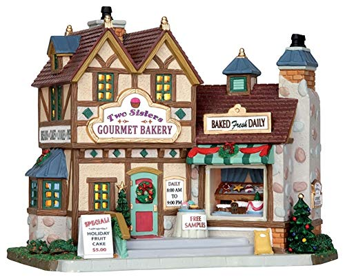 Lemax Chrsitmas Two Sisters Gourmet Bakery B/O Led