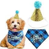 YUESEN Sombrero de Cumpleaños para Perros Bufanda triángulo de algodón con Lindo Sombrero de Fiesta de cumpleaños para Perritos, Gran Disfraz de cumpleaños para Perro, Regalo y decoración de Fiesta(