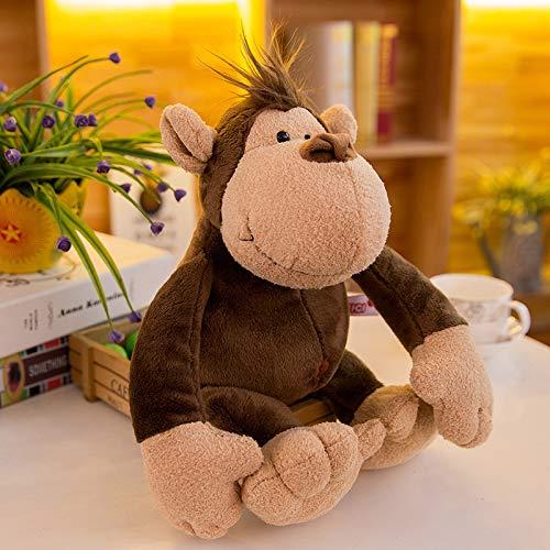 Plush toy simulation lion giraffe tiger monkey doll 25cm0.1kg monkey