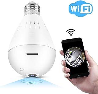 Cámara HD de 960P HD 1.3 millones de píxeles de cámara de bombilla panorámica Cámara de seguridad para el hogar Detección de movimiento/Visión nocturna HD/Conexión WiFi