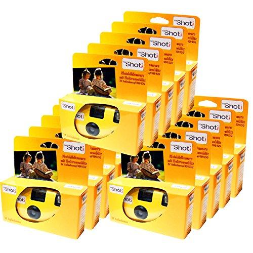 TopShot Lot de 15 appareils photo jetables PHOTO PORST pour 27 photos avec flash