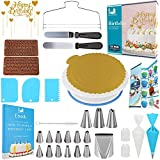 Cake Decorating Tools 67 pcs Cake Decorating Kit with Cake Turntable Cake Decorating Supplies with Frosting Tips and Bags 31 Icing Piping Bags and Tips Set Cake with 16 Piping Tips Other Cake Tools