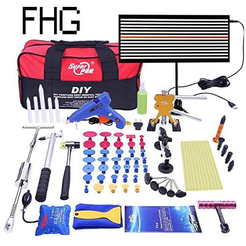 Ausbeul Reparatur-Werkzeug-Dent Puller Kit Golden Lifter, Brücke Puller & Klebepistole für Auto Karosserie Motorrad-Kühlschrank