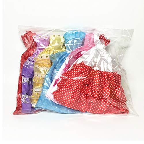 BOVER BEAUTY 5 PCS Handgemachte Neuheit Kleider Puppe Kleider Hochzeit Kleid Kleider Kleidung für die Puppe (gelegentliche Farbe / Style)
