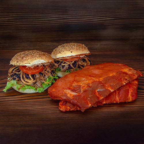 WURSTBARON® Männer Brotzeit - Set aus 2x Pulled Pork Burger und 2x Loin Ribs
