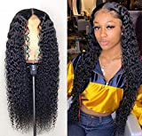 West Kiss Braizlian Deep Wave Lace Front Wigs 180% Density Human Hair 13x4 Lace Front Wig Pre Plucked With Baby Hair Natural Color (22',180% Density)