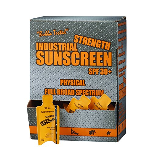 Box of 50-5ML Packet Industrial Zinc Oxide Sunscreen SPF30+, Full Broad Spectrum, Rubs in Clear, Protects Immediately, 80-min Water. Anti-inflammatory Properties. Keeps The Body Cooler.