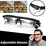 Qbxsdth Dial Adjustable Glasses Variable Focus,Adjustable Reading Glasses As Seen on Tv, Adjustable Strength Reading Glasses for Reading Distance Vision Eyeglasses (2PCS)