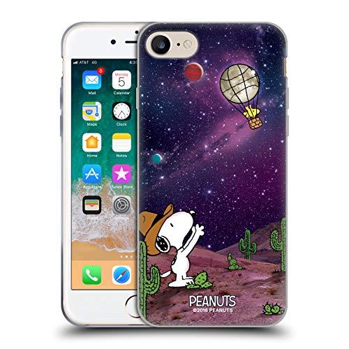 Head Case Designs Licenza Ufficiale Peanuts Nebulosa Palloncini Woodstock Snoopy Cowboy Spazio Cover in Morbido Gel Compatibile con Apple iPhone 7 / iPhone 8 / iPhone SE 2020