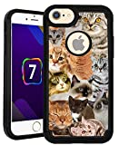 OptiCase iPhone 7 / iPhone 8 Case - The Cat Collage Cats Hybrid Shockproof Unique Case with Great Protection