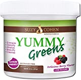 Yummy Greens Drink Mix with Sea Lettuce, Dulse, Acai, Pineapple and probiotic for Energy, Vitality and Wellness. Product is Patented, Gluten Free, Thyroid Friendly and goitrogen Free