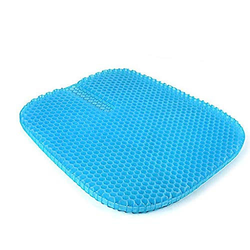 Yppss Gel Seat Cushion,Double Thick Egg Seat Cushion with Non-Slip Cover Breathable Honeycomb Pain Relief Egg Sitting Cushion for Office Chair Car Wheelchair eternal
