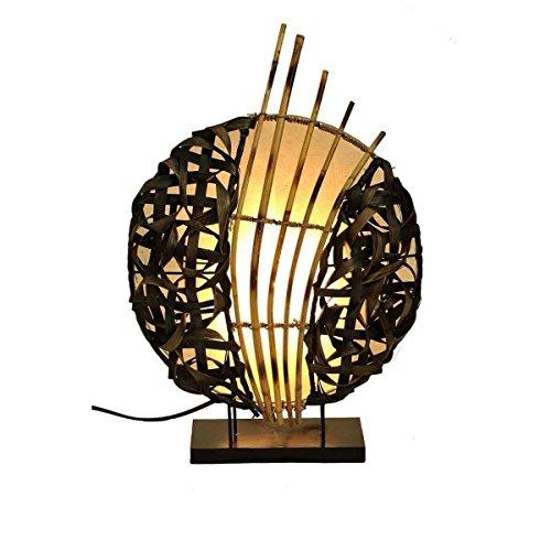 Deko-Leuchte Stimmungsleuchte Stehleuchte Tischleuchte Tischlampe Bali Asia Feng Shui Color Weiß