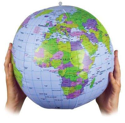 BLOW UP GONFLABLE MONDE GLOBE ATLAS CARTE DU MONDE DE LA TERRE POUR L'EDUCATION