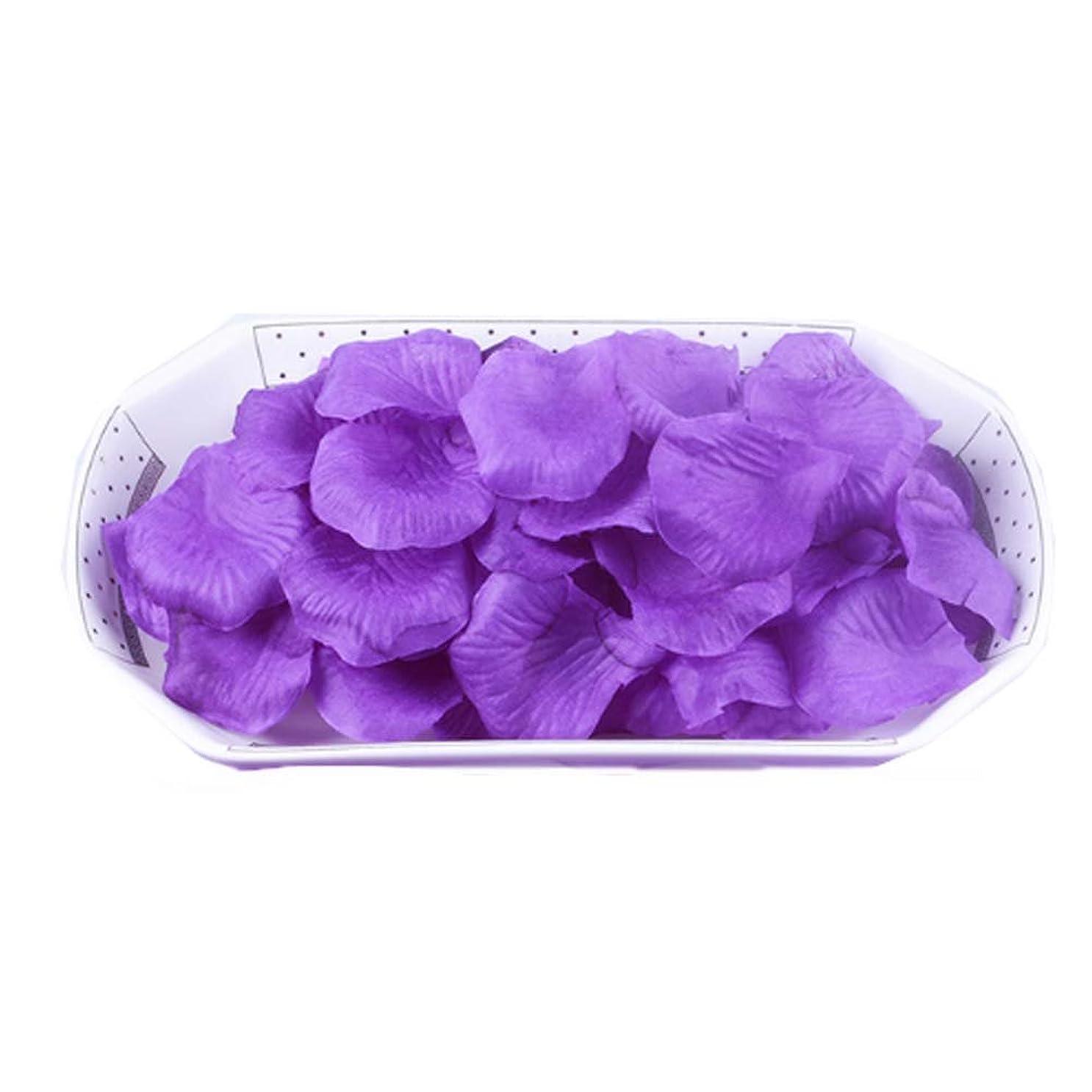 ジャズキャッシュ劇場結婚式の装飾のための人工花の花びら紫2000 PC