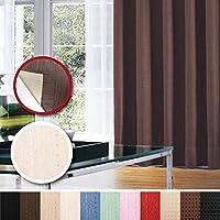 窓美人 センチュリオン 完全遮光 特殊コーティングカーテン 半間用 1枚入 幅100×丈178cm アイボリー ストライプ柄 断熱・遮熱・防音 形状記憶付