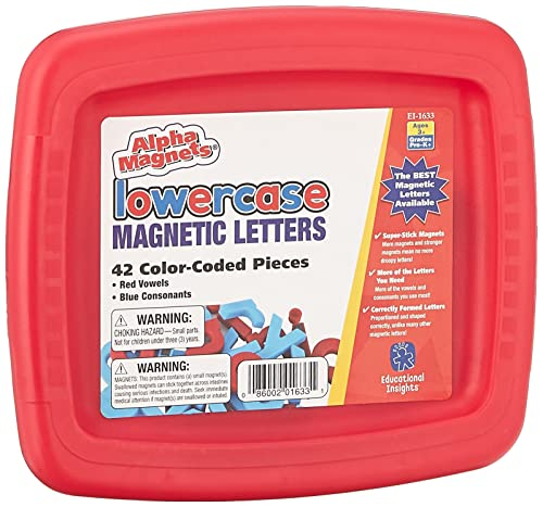 Educational Insights Color-Coded Lowercase AlphaMagnets, Set of 42 ABC...
