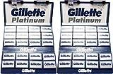 Gillette - Platinum - Lot de 200 lames de rasoir