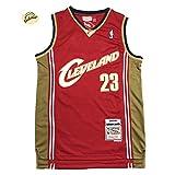 LeBron James 23# Cleveland Cavaliers - Camiseta de baloncesto para hombre, ropa deportiva para hombre, sin mangas, transpirable, chaleco de malla transpirable para exteriores