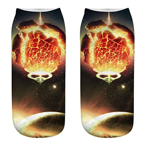 Buy Meidexian888 Short Socks, 3D Print Planet Pattern Casual Socks Gift (I)