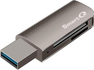 SmartQ C370 SD Card Reader Portable USB 3.0 Flash Memory Card Adapter Hub for SD, Micro SD, SDXC, SDHC, MMC, Micro SDXC, M...