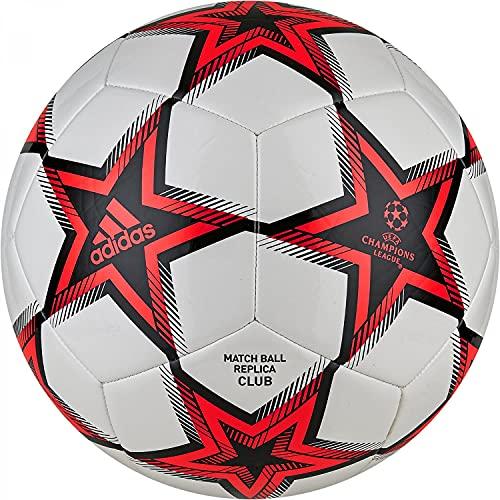 Adidas, Fin21 Clb , Pallone Da Calcio, Bianco / Nero / Rosso Solare, 5, Unisex Adulto
