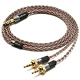 GUCraftsman 6N Single Crystal Copper Upgrade Headphones Cable 4Pin XLR/2.5mm/4.4mm Balance Headphone Upgrade Cable for Sony MDR-Z7 MDR-Z7M2 MDR-Z1R (3.5mm Plug)