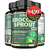Pure Broccoli Sprout Seed Extract Capsules - 5 Month Supply - Equivalent 8450mg of 5 Herbs - Support Immune & Healthy Body - Rich in Fiber -1 Pack 150 Vegan Caps