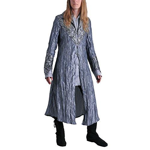 Elbenwald Thranduils - Abrigo de disfraz para fans del Señor de los Anillos, color gris plateado plata 48/50