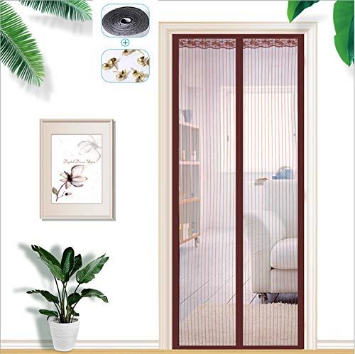 Deur Curtain gordijn, magnetisch, zonder boren, elegant, deurgordijn, voor patio, zwart, deur, balkon, huisdieren 80*210CM B1
