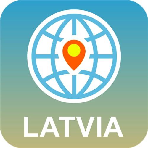 ラトビア 地図オフライン