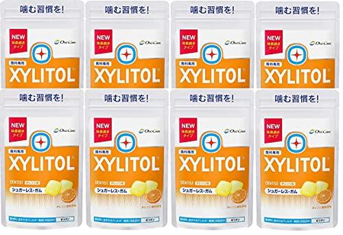 【味長続きタイプ】ロッテ キシリトールガム ラミチャック オレンジ【歯科専用】 (8個)