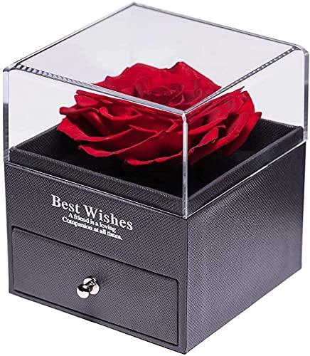 Caja de regalo de rosas, caja de regalo para el día de San Valentín, día de la madre, aniversario, boda, cumpleaños, regalos románticos para ella
