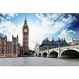XIANGZIHU Nuevo 5D Diy pintura de diamantes punto de cruz kits de bordado de diamantes redondos mosaico de diamantes Londres Big Ben regalo de bordado de diamantes de imitación-30x40cm