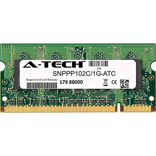 A-Tech 1GB Replacement for Dell SNPPP102C/1G - DDR2 800MHz PC2-6400 Non ECC SO-DIMM 1.8v - Single Laptop & Notebook Memory Ram Stick (SNPPP102C/1G-ATC)