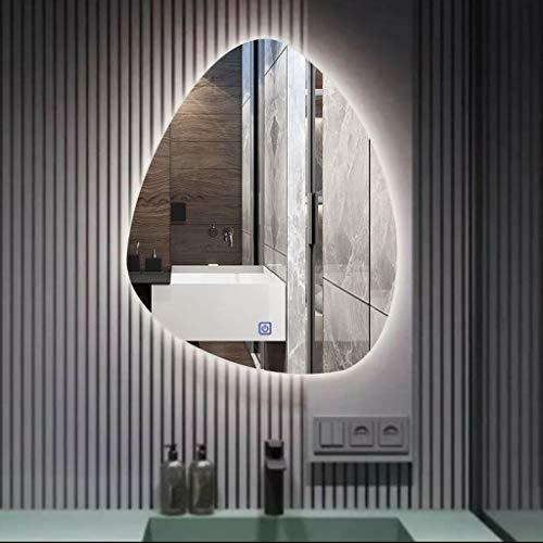 Specchio a Goccia d'Acqua a LED , 50-80 cm Specchio da toeletta per Bagno Specchio da Parete...